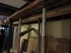 Renforts au sous-sol en prévision de la démolition de l'ossature du mur porteur