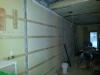 Soufflage pour le mur mitoyen dans l'ancien salon double pour arriver à égalité du mur de la salle à dîner.