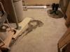 Préparation du plancher dans l'entrée principale