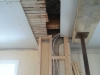 Rencontre des deux plafonds où sera installée la poutre