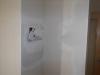 Plusieurs trous faits par l'électricienne ont été bouchés
