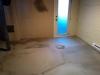Le béton auto-nivelant qui recouvre le plancher chauffant
