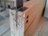une poutre (à l'envers) avec la plaque qui la reliera à la colonne