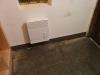 Les plinthes de bas de mur en céramique dans le vestibule