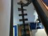 Structure métalique de l'escalier