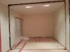 Exit arche du salon double. Ça nous permettera de faire des étagères sans nous soucier de la colonne.
