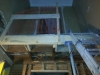Le palier coupé à sa dimension finale dans l'entrée principale.