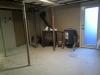 Plancher du sous-sol prêt pour le béton auto-nivelant