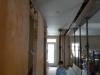 Le Gyproc est terminé au plafond du corridor.