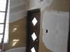"""Plâtre sur les """"patches"""" de l'ancien excalier du vestibule"""