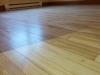 Le plancher sablé et vernis