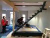Structure métalique de l'escalier avec notre beau Albert