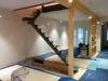 Escalier qui va du rez-de-chaussée au 2ème étage