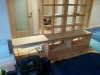 Le banc du salon est installé