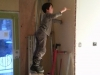 Thomas à l'oeuvre! Si il avait pu se rendre au plafond il l'aurait fait.